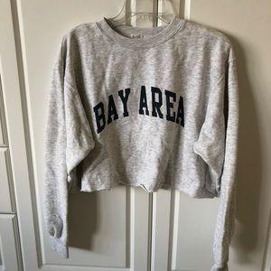 Brandy Melville Bay Area Cropped Sweatshirt